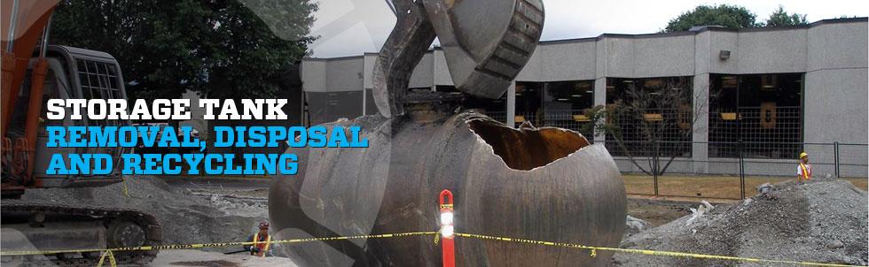 Storage Tank Demolition : Storage tank decommissioning sumas remediation
